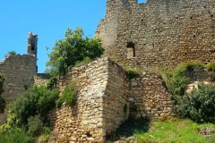 Ruin castle of palafolls