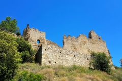 Side view of the ruin Castle