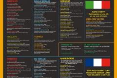 Texas Blanes Menu Italian French